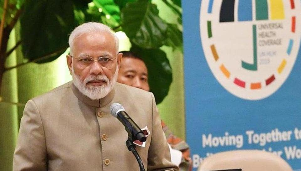 Prime Minister Narendra Modi highlights India's bold initiatives towards universal health coverage at a UN high-level meeting on Monday.