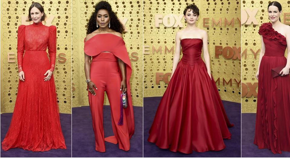 (In photo) Vera Farmiga, presenter Angela Bassett, Joey King, and Emily Hampshire. The 71st Primetime Emmy Awards, or the biggest award night of TV as they are known, at the Microsoft Theatre in Los Angeles saw a showcase of interesting upcoming trends, unique personal style and some of the most eye-grabbing looks.  (AP)