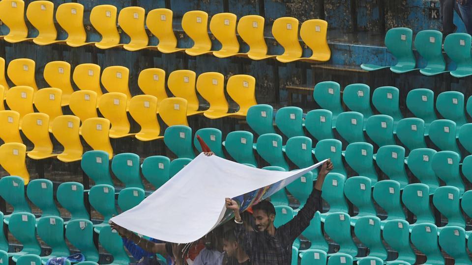 Rain in a cricket stadium (Representational image)