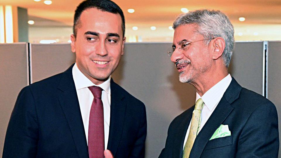 USA, Sep 25 (ANI): External Affairs Minister Dr S Jaishankar meets his Italian counterpart Luigi Di Maio in New York on Wednesday. (ANI Photo)