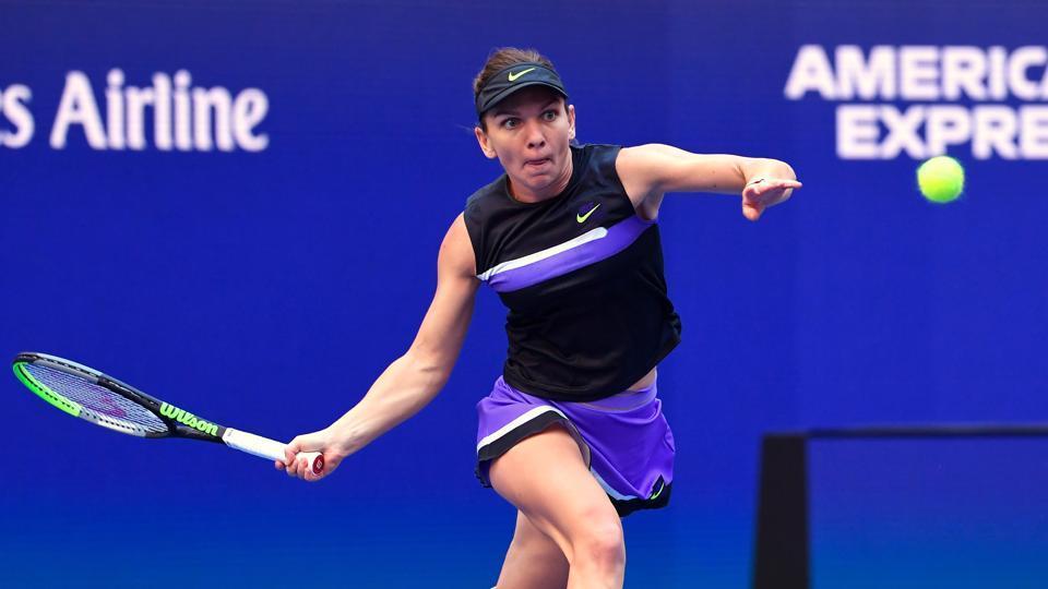 Simona Halep during a Tennis match