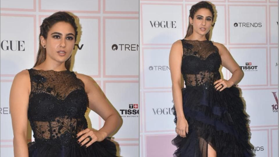Sara Ali Khan dazzles in midnight blue at Vogue Beauty Awards 2019