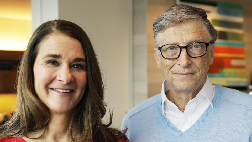 Bill Gates and his wife Melinda  Gates.