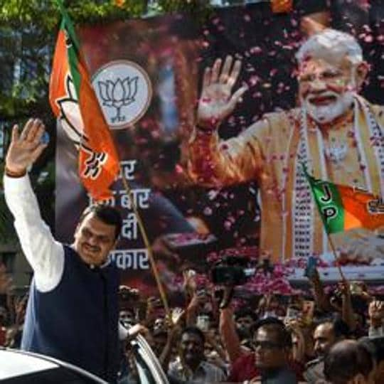 Maharastra chief minister Devendra Fadnavis has been campaigning for his party, the BJP ahead of the Assembly elections.