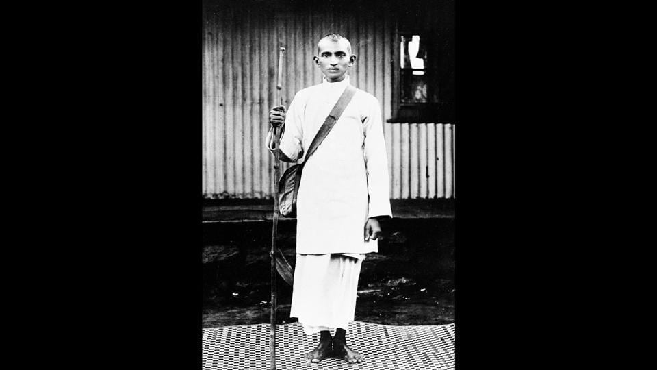 Right from his early years, Mahatma Gandhi had an active relationship with the camera. Here, Gandhi is seen in 1914, wearing white to mourn the deaths of Indian strikers killed in police firing in South Africa.  (National Gandhi Museum)