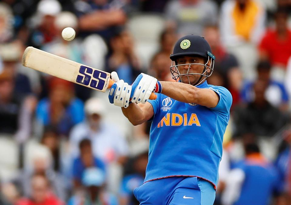 Cricket - ICC Cricket World Cup Semi Final - India v New Zealand - Old Trafford, Manchester, Britain - July 10, 2019 India's MS Dhoni in action Action Images via Reuters/Jason Cairnduff