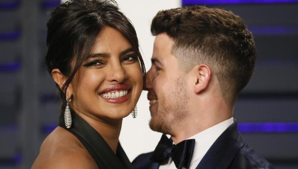 Priyanka Chopra and Nick Jonas at Vanity Fair party post at 91st Academy Awards.