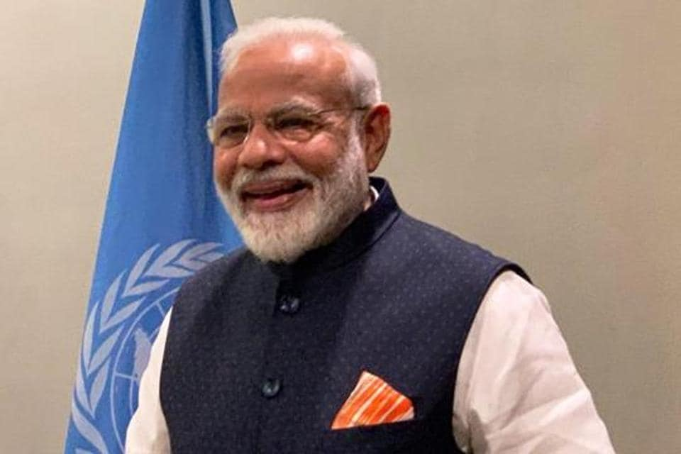 Prime Minister Modi at the United Nations General Assembly.