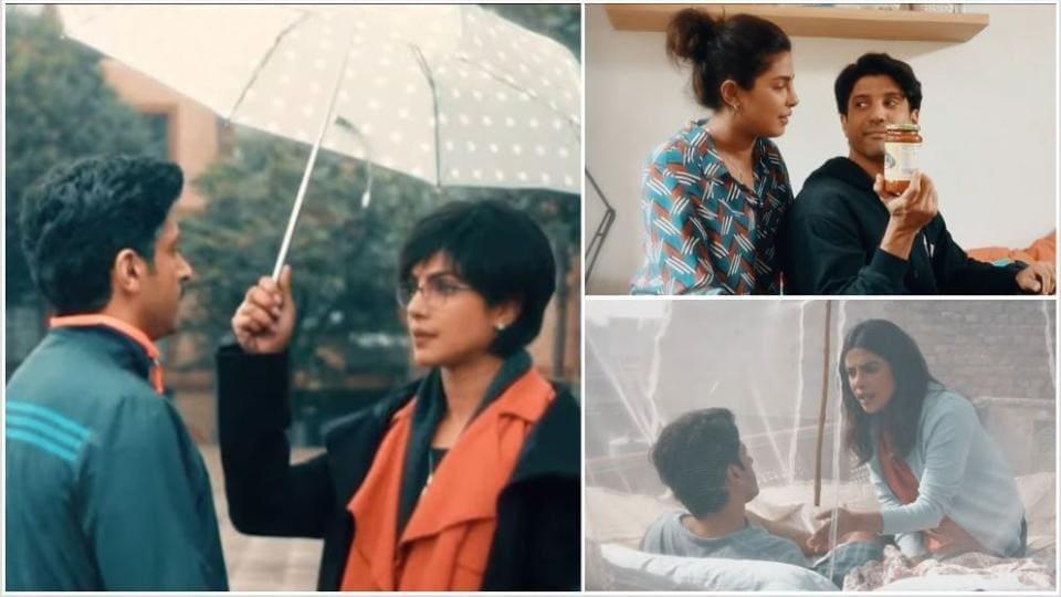 Farhan Akhtar and Priyanka Chopra play a married couple in The Sky Is Pink.