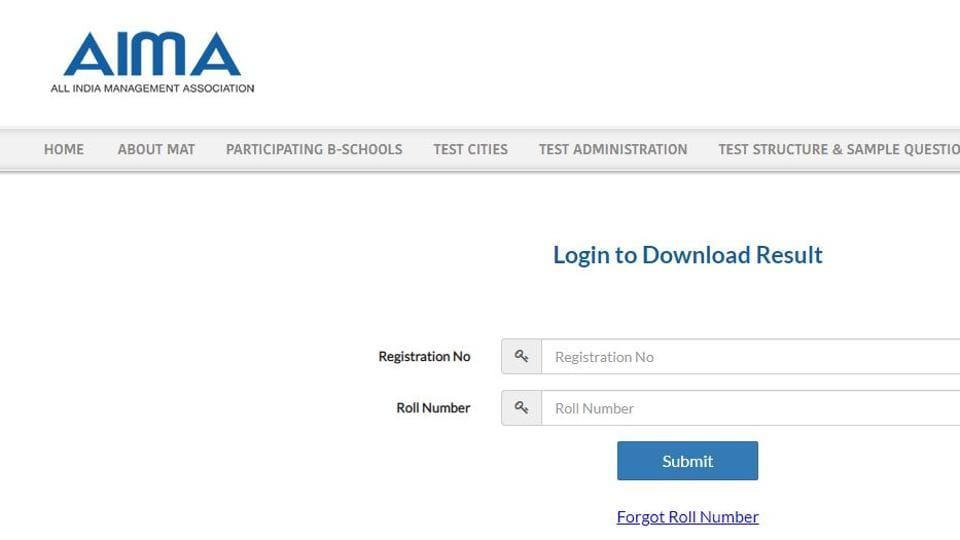 All India Management Association has announced the MAT September 2019 result on its official website aima.in.
