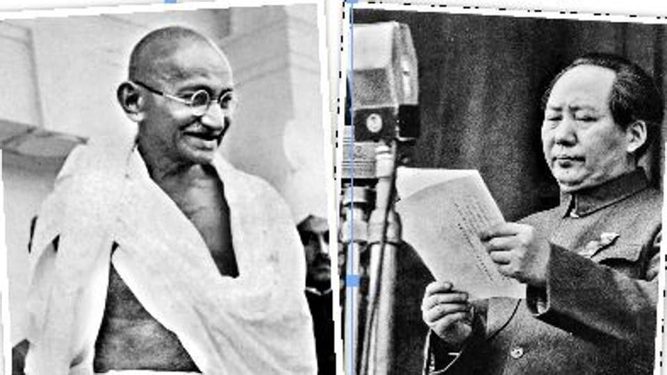 Gandhi, 1940s;  Revolutionary Chinese leader Mao Tse-Tung, 1949