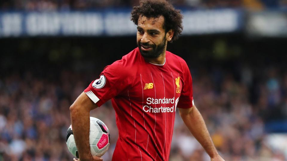 Liverpool's Mohamed Salah during the match.