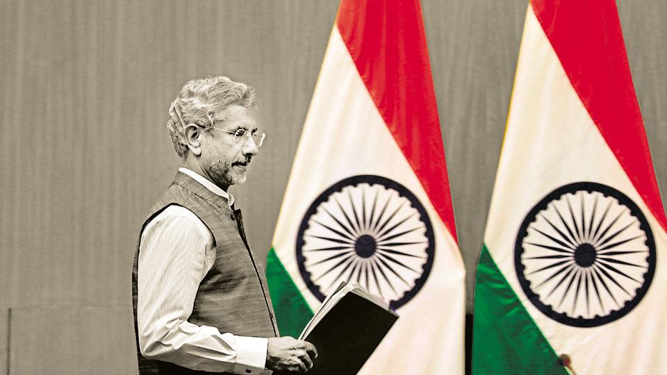 Indian External Affairs Minister Subrahmanyam Jaishankar arrives to address a press conference to mark 100 days since Prime Minster Narendra Modi's new term in office in New Delhi, India, Tuesday, Sept.17, 2019. (AP Photo/Manish Swarup)