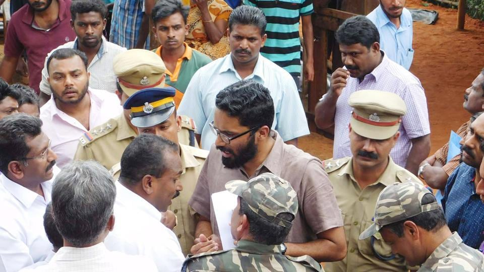 One of the IASofficers Sriram Venkataraman stirred protests in the area and even a public threat from controversial Kerala minister and local strongman, MM Mani.