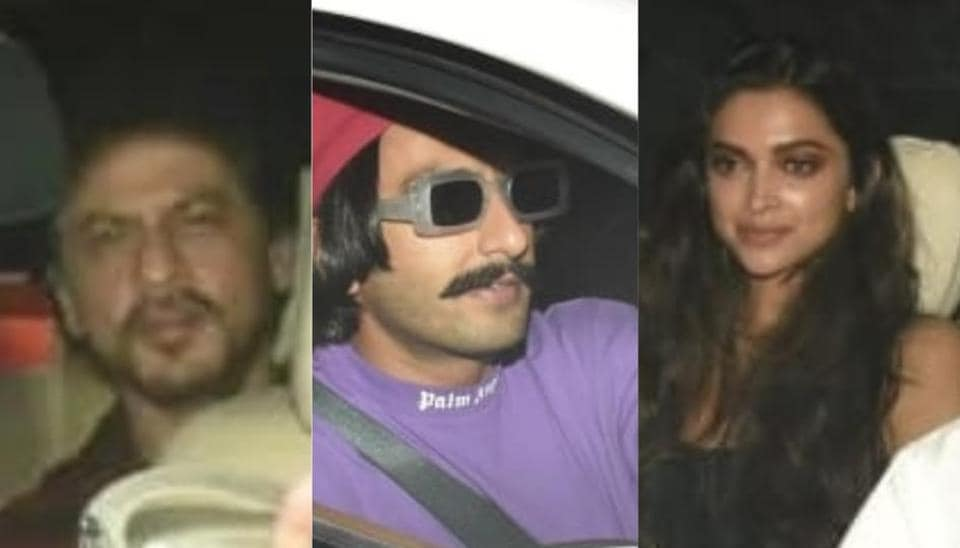 Bollywood stars arrive for a grand birthday party for Ranbir Kapoor.