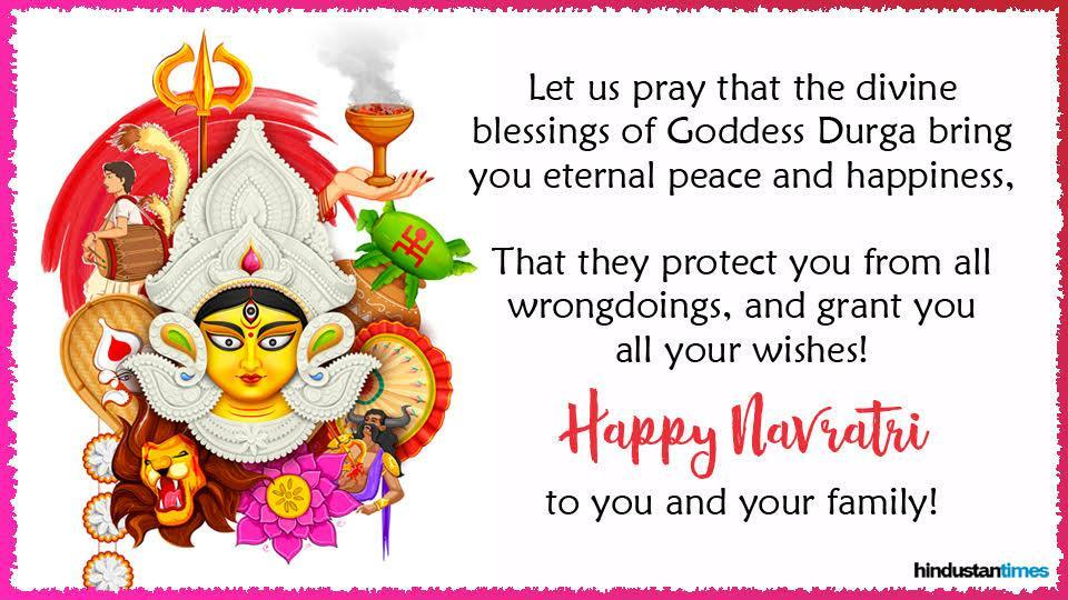Happy Navratri 2019 Wishes Quotes Images Messages Cards