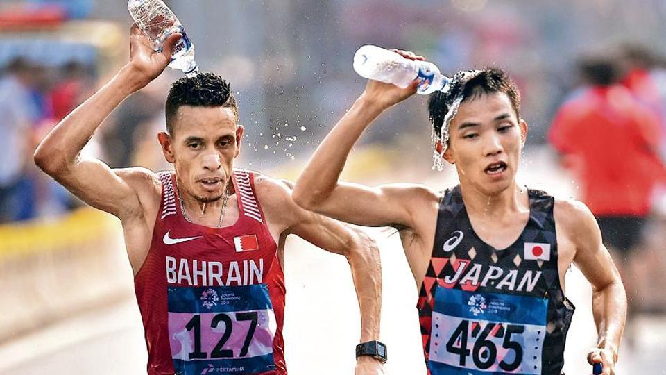 While most events at the World C'ships will take place inside the air-conditioned Khalifa stadium, race walkers and marathon runners will have to deal with the heat threat