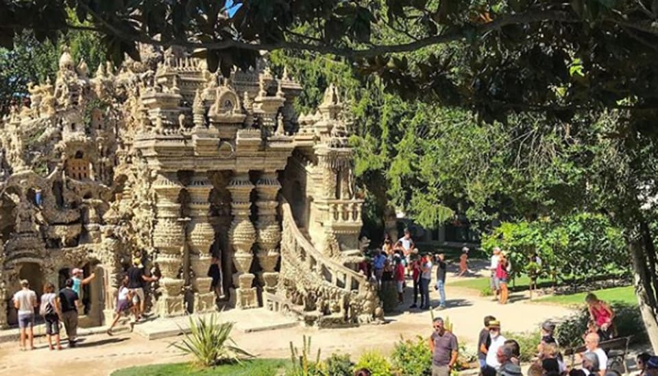 """The """"Ideal Palace"""" was created by Ferdinand Cheval in his home town of Hauterives south of the city of Lyon."""