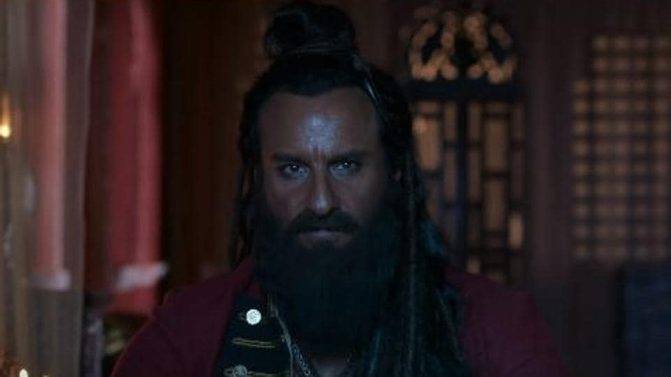 Saif Ali Khan in a trailer for the second trailer for Laal Kaptaan.