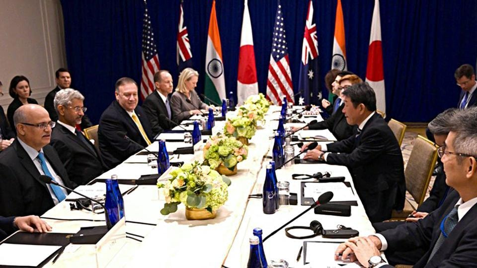 """The decision by Australia, India, Japan and the US to upgrade their """"Quad"""" grouping to the level of foreign ministers is a """"significant elevation"""" aimed at institutionalising the dialogue by the Indo-Pacific partners"""