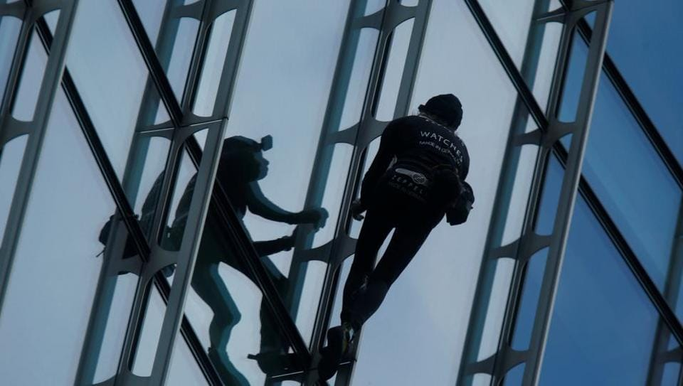 'French Spiderman' Climbs Frankfurt High-Rise, Faces Fine