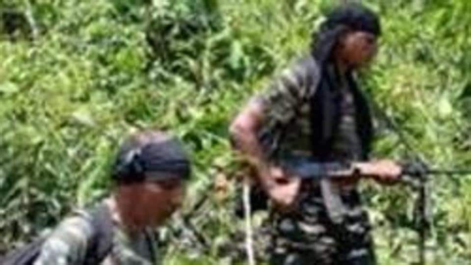Security forces seen in a combing operation to flush out Maoists. Aruna is a dreaded left extremist carrying a reward of Rs 5L on her head.