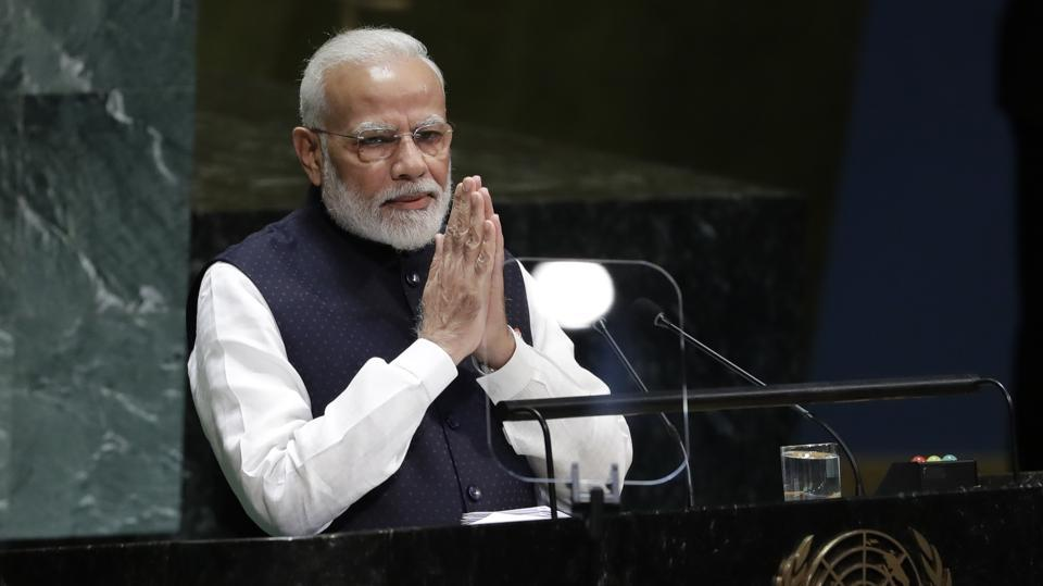 Modi's address to the UN General Assembly, as officials had said well in advance, made no reference to the Kashmir issue or tensions with Pakistan.