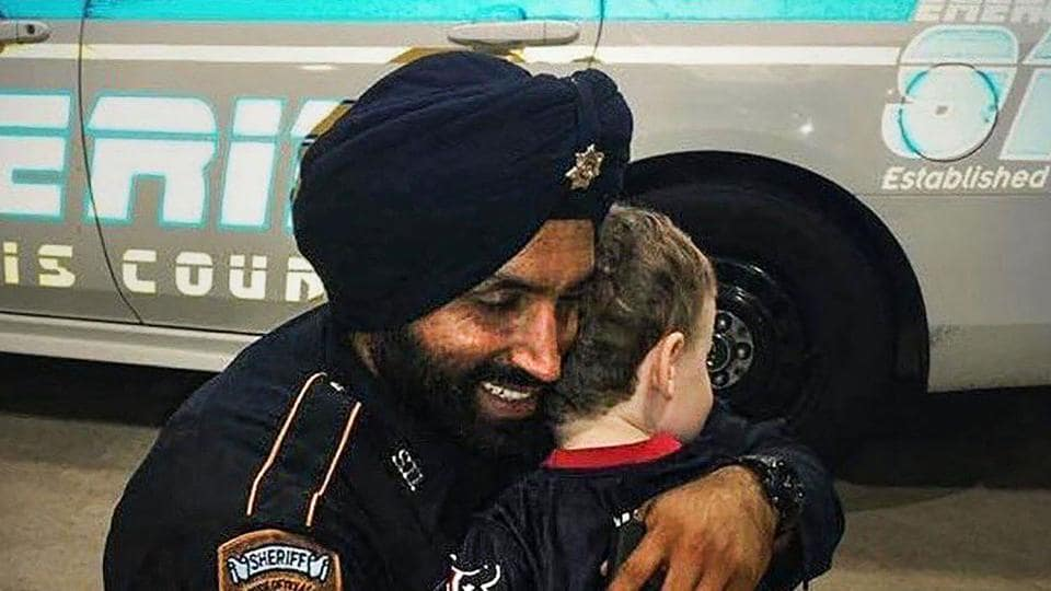 Saturday, Sept. 28, 2019, Indian-American Sikh police officer Sandeep Singh Dhaliwal, who made national headlines when he was allowed to grow a beard and wear a turban on the job, was shot and killed in northwest of Houston on Friday