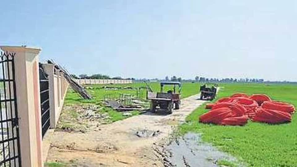 The 60-acre site at Manawala village in Amritsar, where the IIM'spermanent campus is coming up.