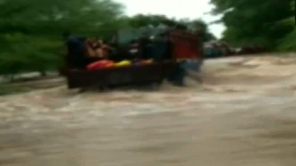 Heavy rainfall over the last week has led to floods in large parts of northern India.