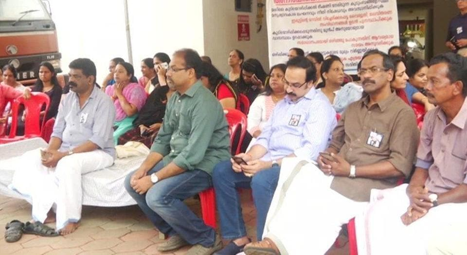 Residents of the Maradu flats in Kerala's Kochi have began a hunger strike to protest their eviction.