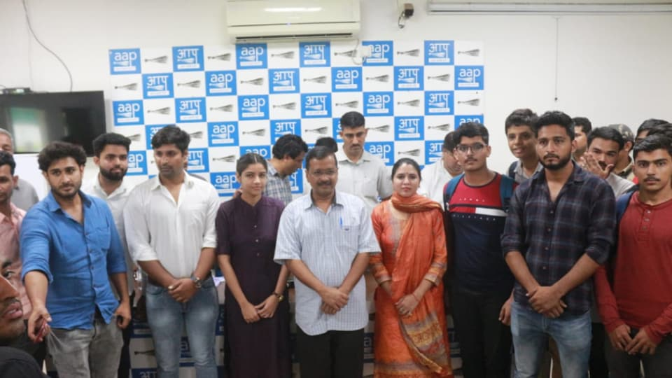 DU's South Campus students join AAP's student wing CYSS.