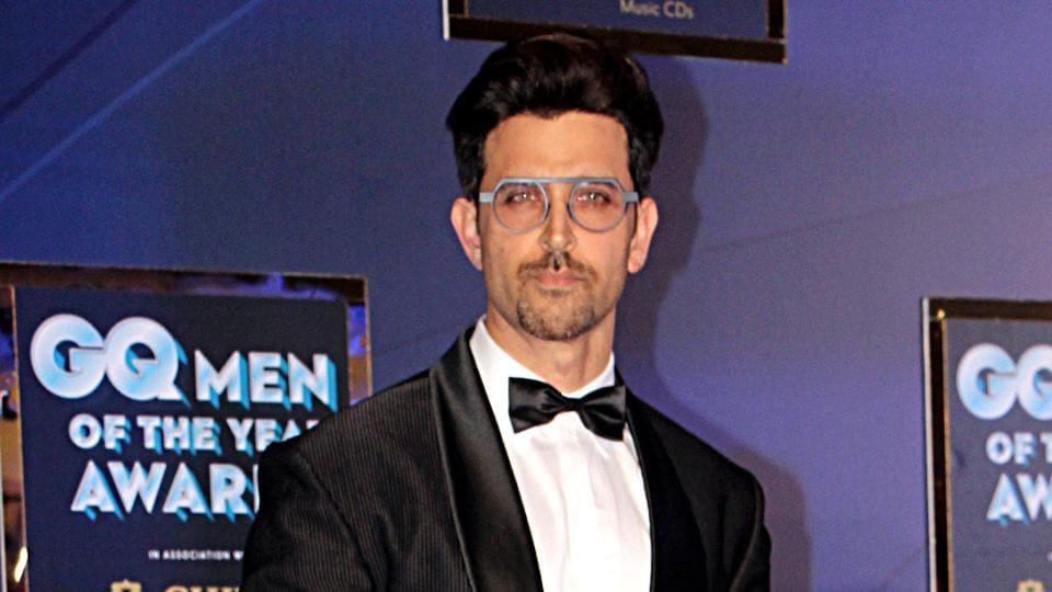 Bollywood actor Hrithik Roshan during the GQ Award 2019 in Mumbai on Saturday.
