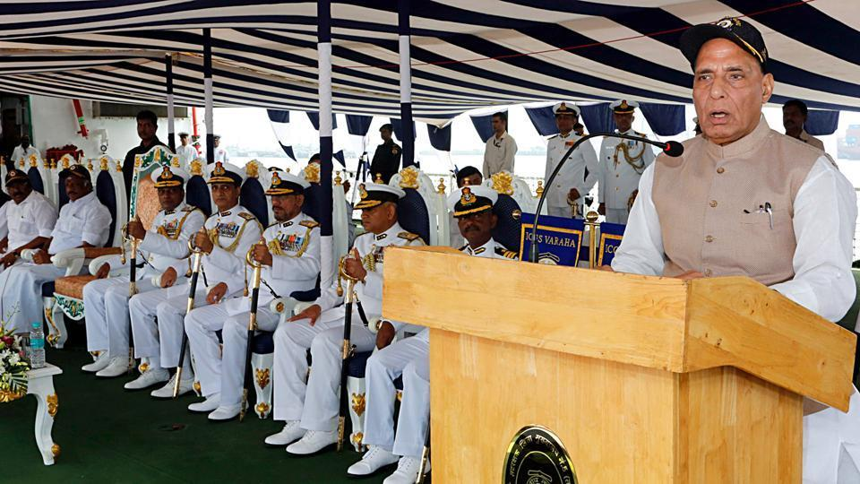 Defence minister Rajnath Singh on Saturday commissioned India's second Scorpene-class attack submarine, INS Khanderi, by sounding a warning to Pakistan amid heightened tensions in the subcontinent over Kashmir.