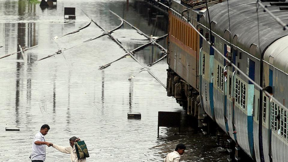 Railway tracks were flooded at several places in Bihar leading to cancellation and delays in train services. Passengers were left complaining