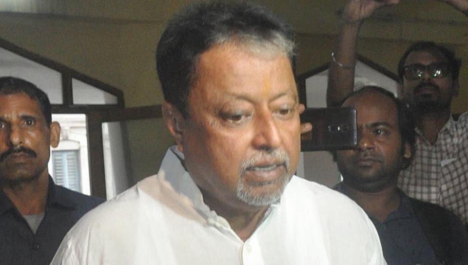BJP leader Mukul Roy appears in front of CBI for Narda Scam in Kolkata on Saturday.