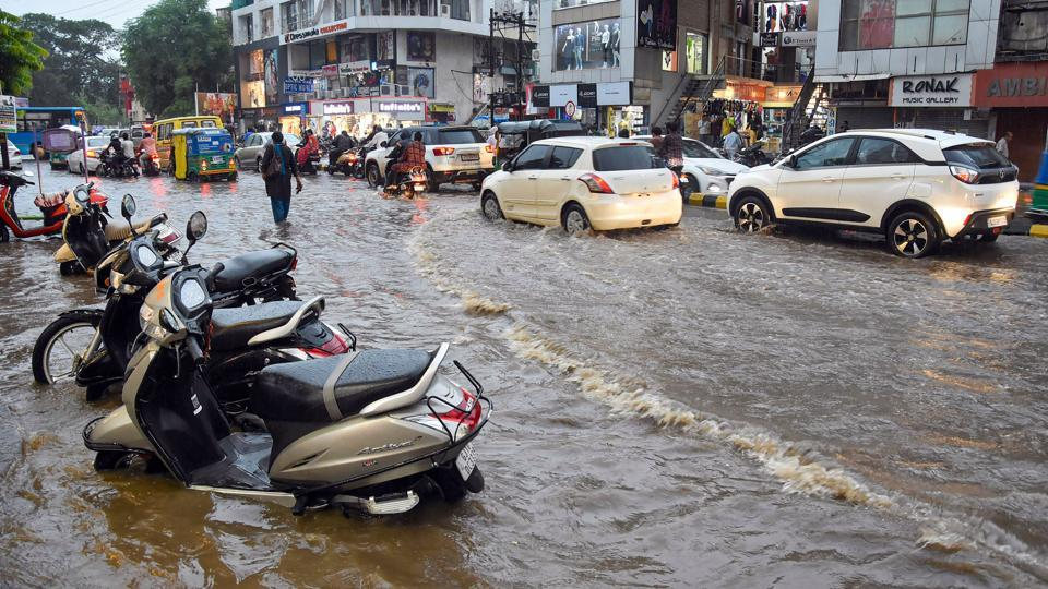 Heavy rains continued in several parts of Saurashtra including Rajkot, Junagadh, Morbi and Devbhoomi Dwarka districts on Sunday, according to the Gujarat emergency operation centre.