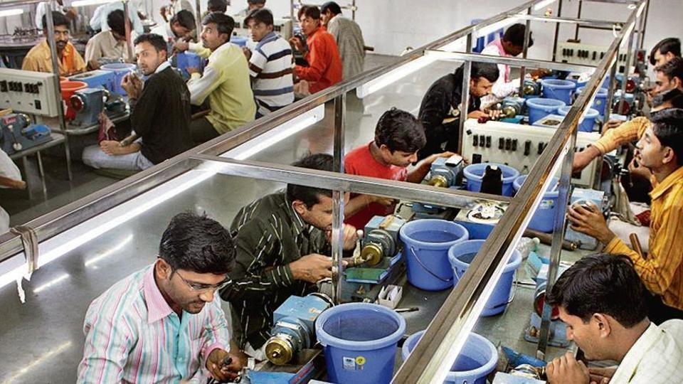 Diamond polishers at work in Surat, Gujarat.