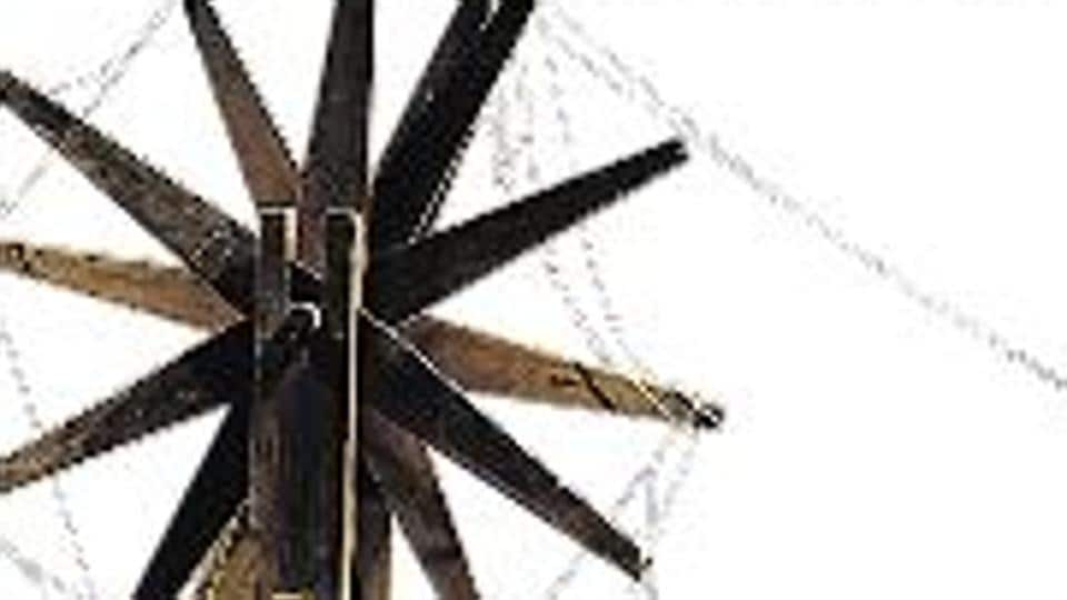A charkha used by Mahatma Gandhi on display at the Gandhi Bhavan (Hyderi Manzil) in Kolkata, where he spent 25 days, including Independence Day, in 1947.