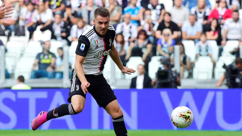 Juventus' Aaron Ramsey in action