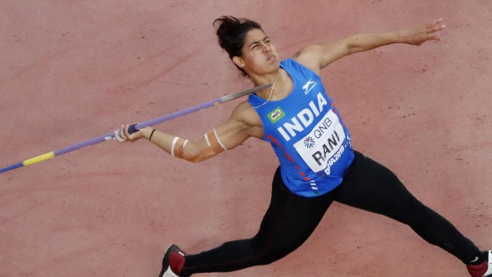 India's Annu Rani in action.
