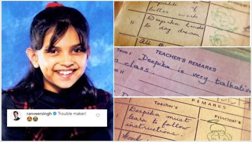 'Trouble maker' Deepika Padukone shares her school reports on social media
