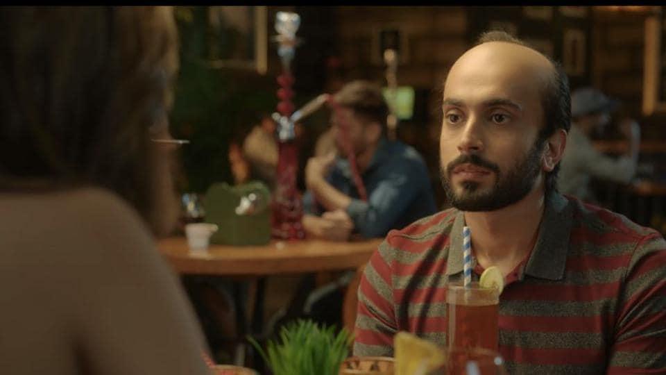 Sunny Singh as a bald man in Ujda Chaman trailer.