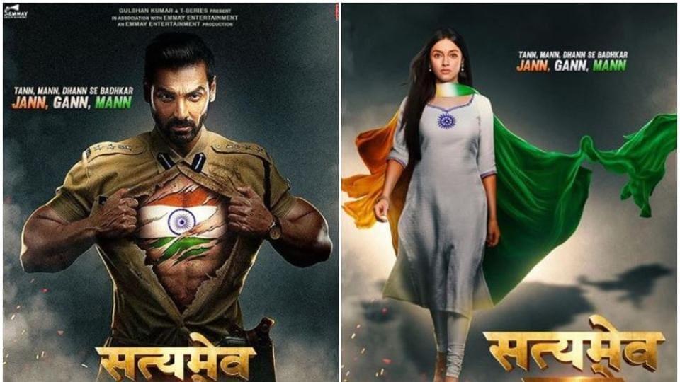 SatyamevaJayate 2 first posters: JohnAbraham and Divya Khosla Kumar will be in lead roles.