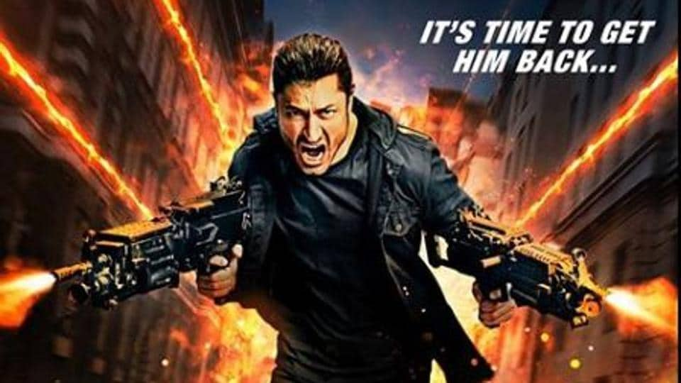 Vidyut Jammwal in a poster of Commando 3.