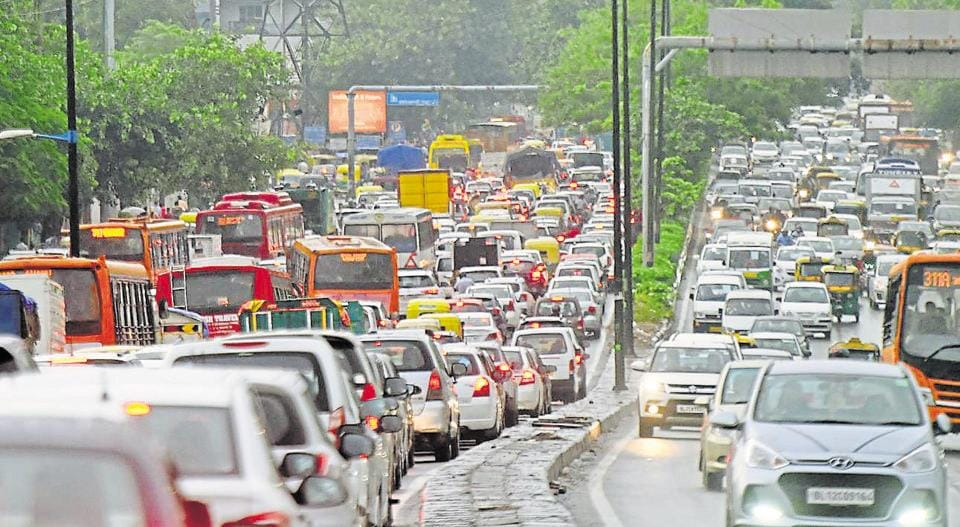 Peak hours in Delhi are considered from 8-11 am and 5-9 pm and traffic during these hours moves at snail's pace on most arterial roads