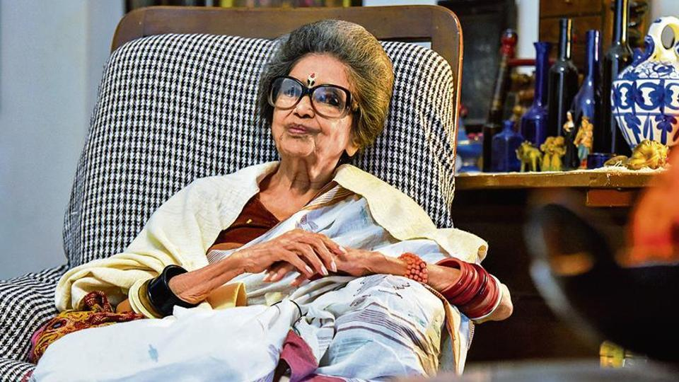 Tara Bhattacharjee at her residence in New Delhi.
