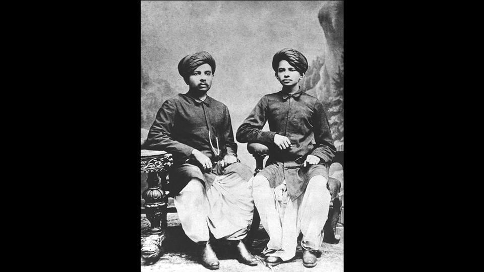 Mohandas Gandhi (left)and his brother Laxmidas. Gandhi was very shy as a child and would return home as soon as school ended to avoid talking to anyone. After finishing school, he trained in law in London. After returning from London as a trained barrister in 1891, Gandhi attended the Bombay High Court every day, walking 45 minutes to and from his home. In court, he couldn't follow the cases and would doze off. (National Gandhi Museum)