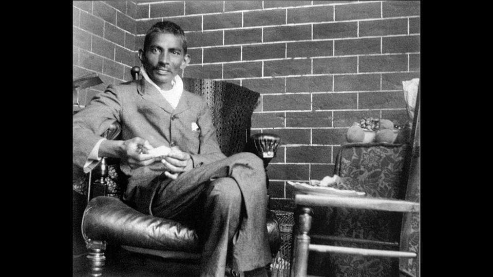 Gandhi in Johannesburg, South Africa, in 1908. After spending two uncertain years in India, Gandhi moved to South Africa in 1893 to represent an Indian merchant in a case. He stayed there for 21 years. It was there that he started challenging the discrimination meted out to coloured races. He even launched a successful satyagraha against unfair laws and taxes on the Indian community there. (National Gandhi Museum)