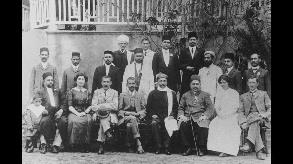 Gandhi with his mentor and Congress leader Gopalkrishna Gokhale, his friend and doctor Hermann Kallenbach and other members of the Reception Committee, in Durban, South Africa, in the year 1912. It was in South Africa that Gandhi developed his philosophy of passive resistance. He also got his first taste of racial discrimination in the country when he was thrown off a train in Pietermaritzburg. (National Gandhi Museum)